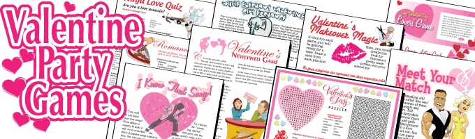 22 amazing fun printable Valentine's Day games for just $19.95!