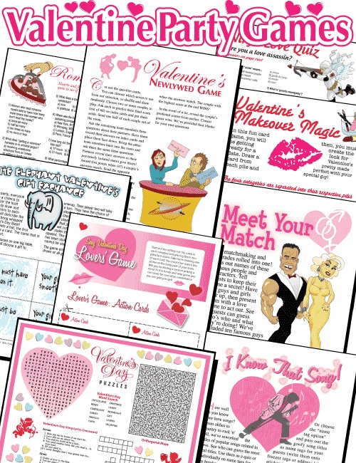 22 Amazing Fun Printable Valentineu0027s Day Games. Printable Valentine Party  Games