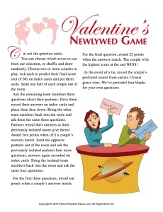 Newlywed Game Questions for Valentine's Day
