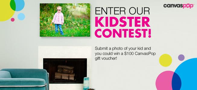 Enter CanvasPop's Kidster Photo Contest!