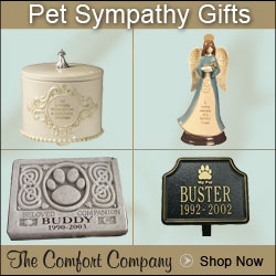 Shop comforting pet sympathy and condolence gifts at The Comfort Company.