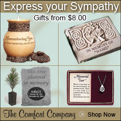 Find unique and meaningful sympathy gifts at The Comfort Company.