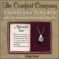 Memorial Jewelry from The Comfort Company is a heartfelt sympathy gift that will grow more meaningful over time.