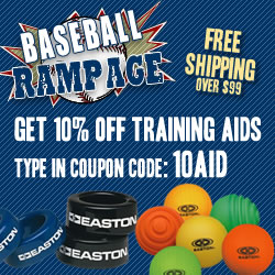 Save 10% off baseball training aids.