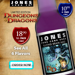Dungeons and Dragons Jones Soda.