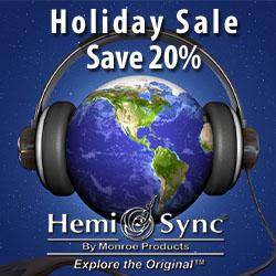 Holiday Sale on Hemi-Sync CDs - Save 20%