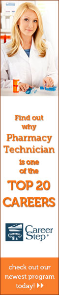 Pharmacy Technician - online certificate program with Career Step.