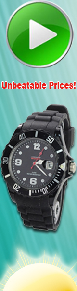 This watch uses bright color and environmental friendly silicone wristband with 3 ATM water resistant and date display. It is fashionable and individualized.