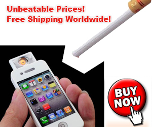The environmental protection electronic cigarette lighter with shape of iPhone is powered through USB plug, which can be charged and discharged hundreds of times. It's USB interface can be connected to your computer, and any other charger device with USB