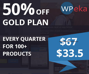 WPeka Club Gold Plan 50% Off - CouponCode - WPEKANEW50