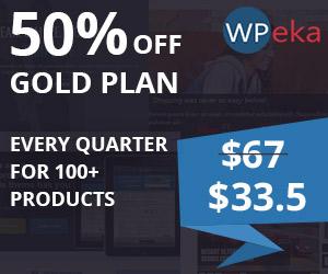 WPeka Club Gold Plan 50% Off - CouponCode - WPEKANEW50