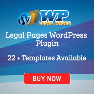 WordPress Legal Page Creator Plugin