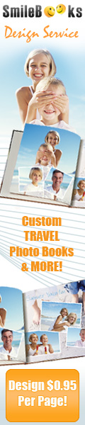 SSmileBooks Design Service. You take the pictures. We design the book. Design only $0.95 per page.