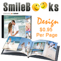 SmileBooks Design Service. You take the pictures. We design the book. Only $1 per page.