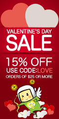 15% Off when you spend $25 or More! Use Code: Love