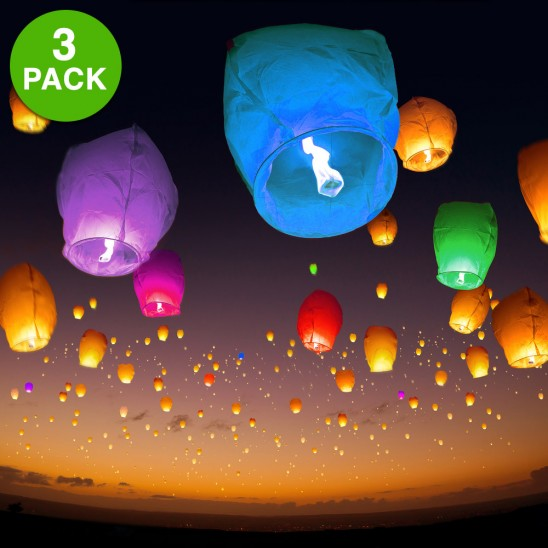 3 Pack: Chinese Sky Lanterns for $8.99 and Free Shipping.