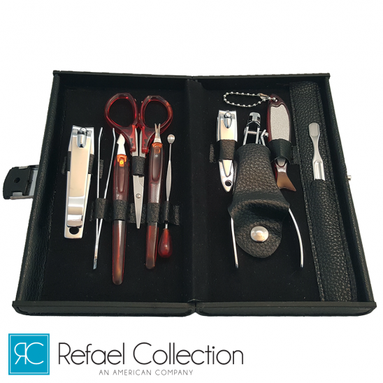 Refael Collection Deluxe 10 Piece Manicure Set with Carrying Case Was: $24.99 Now: $5.99 and Free Shipping.