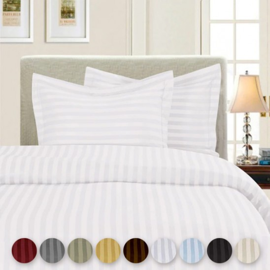 Hotel Quality 100% Cotton Duvet Comforter Cover Set by Refael Collection Was: $99.99 Now: $19.99 and Free Shipping.