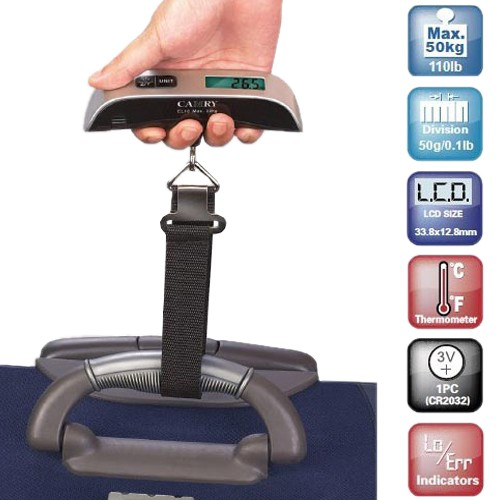 Electronic Luggage Scale With Digital Display Was: $39.99 Now: $7.99 and Free Shipping.