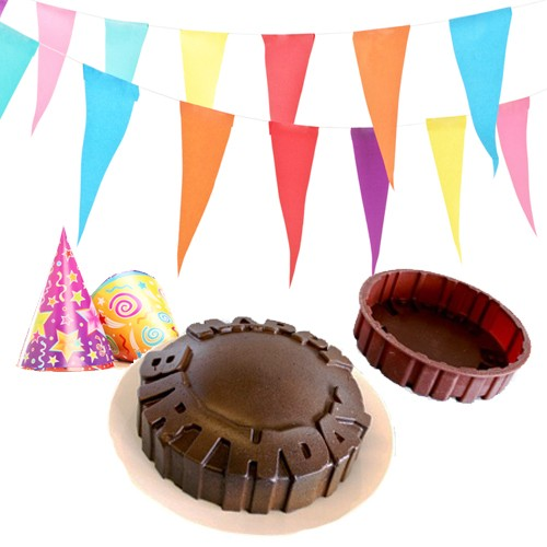 Happy Birthday Message Cake Mold Was: $24.99 Now: $6.99 and Free Shipping.