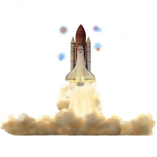 Sticky Pix Space Shuttle Wall Decor Set for $6.99 and Free Shipping.