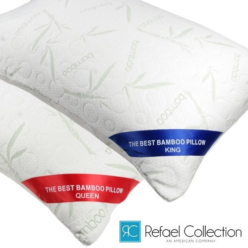 Rayon from Bamboo Memory Foam Pillow with Carry Bag by Refael Collection Was: $79.99 Now: $23.99 and Free Shipping.