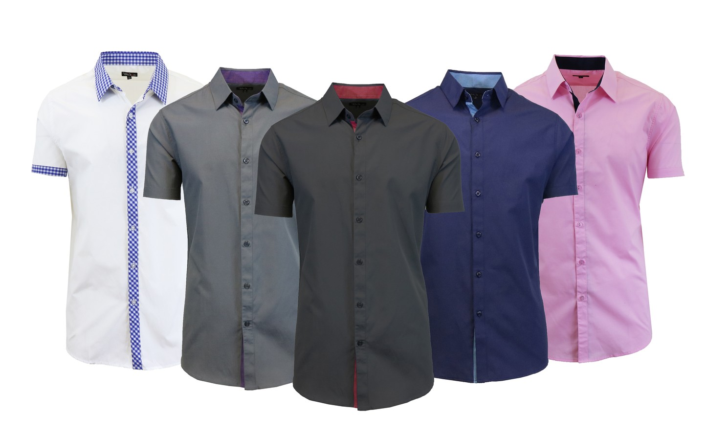 Galaxy By Harvic Men 39 S Short Sleeve Solid Casual Button