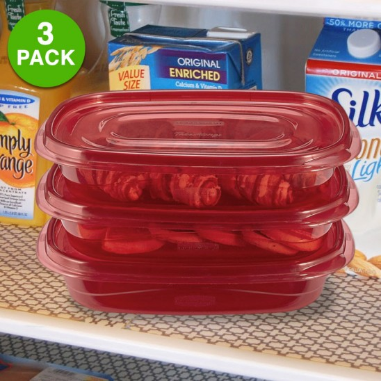 Set of 3: Rubbermaid TakeAlongs 4 Cup BPA Free Food Storage Containers Was: $24.99 Now: $7.99 and Free Shipping.