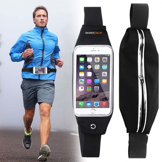 Sahara Sailor Water-Resistant Adjustable Reflective Running Belt with Transparent Viewing Window Was: $29.99 Now: $9.99 and Free Shipping.