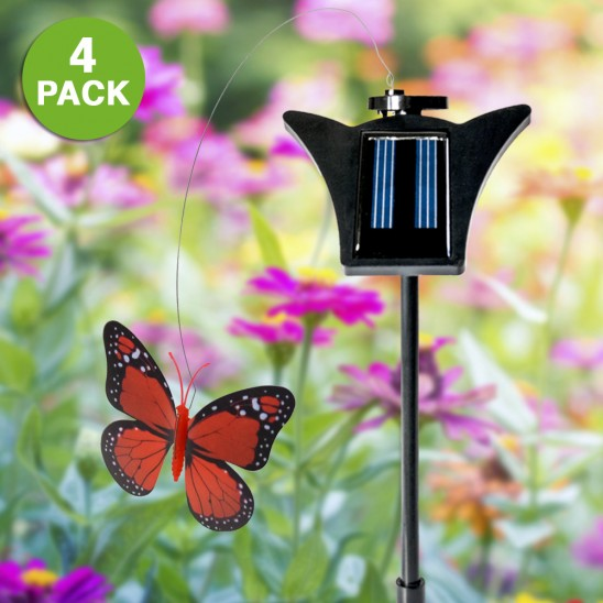 4-Pack: Solar Powered Fluttering Garden Decor Butterfly Was: $49.99 Now: $9.99 and Free Shipping.