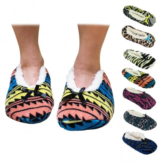 Nicole Miller Plush Slipper Socks with Non-Skid Bottoms Was: $24.99 Now: $2.99 and Free Shipping.
