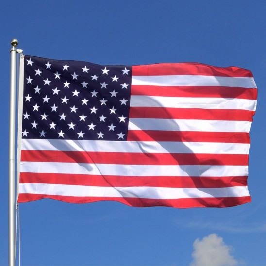 Jumbo 3' x 5' Polyester American Flag with Metal Grommets Was: $29.99 Now: $6.99 and Free Shipping.