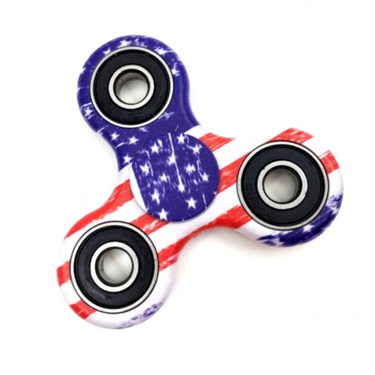 Flag Design Fidget Hand Tri-Spinner Anxiety and Stress Reliever Was: $29.99 Now: $6.99 and Free Shipping.