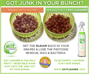 Get the Gleam Back in Your Grapes with Eat Cleaner
