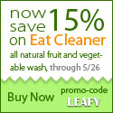 15% off Eat Cleaner produce wash