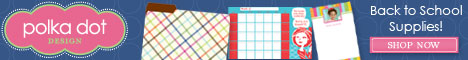 PolkaDotDesign.com Back to School Supplies Shop Now