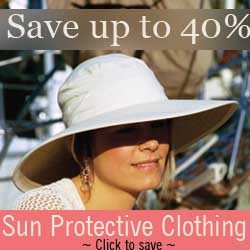 Save up to 40% on sun protective clothing