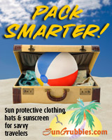 Pack Smarter! Light, wrinkle resistant sun protective clothing