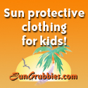 Keep your child sun safe with fun, colorful sun protective waterwear and clothing!