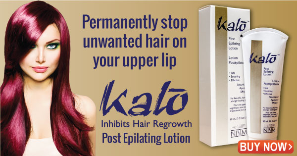 Kalo hair inhibitor, permanently stop unwanted hair growth on your upper lip.
