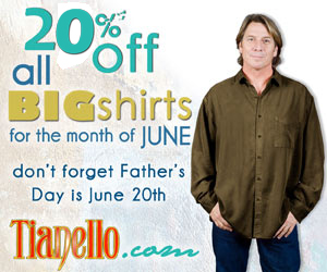 20% Off All Tencel Big Shirts at Tianello