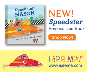 Speed racers will love the thrill of seeing their own name—and favorite color—on every page of this book!