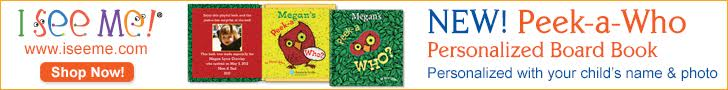 New Personalized Board Book at ISeeMe!