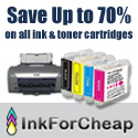 Save Up to 70% on all ink and toner cartridges at InkForCheap