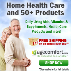 Find daily living aids, vitamins & supplements, and 50+ health care products at AgeComfort.com, one of Canada's leading online health care stores. Get Free Shipping on orders over $50. Click Here!