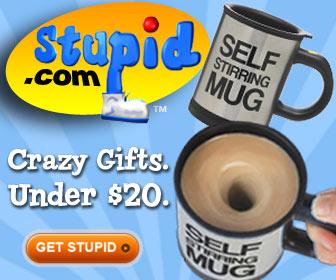 Stupid.com Self Stirring Mug