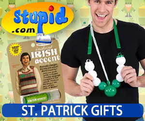 St. Patrick Gifts On Sale at Stupid.com