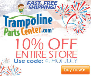 Fourth of July Independence Day Weekend Sale at TrampolinepartsCenter.com 10% off all trampoline parts