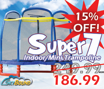SkyBound Super 7 Trampoline fourth of July Independence Day 15% OFF Sale