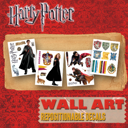 HarryPotterWallArt.com makes licensed removable wall artwork Harry Potter fans - design your ultimate Harry Potter Room Today!